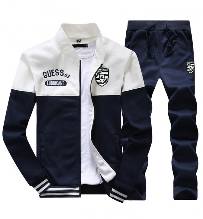 Men's clothing suit Korean version of the fashion students youth leisure sports jacket white xl