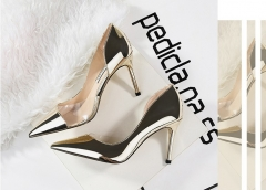 Women's shoes new ladies high heels sexy stilettos with a buckle with fashion sandals women gold 34