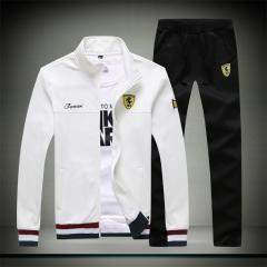 Men's sportswear men's 2018 new men's jacket casual handsome clothes pants white m