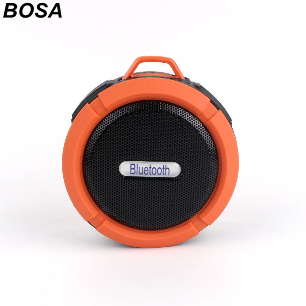 BOSA Bluetooth Wireless Speaker Portable Callphone TF FM Radio Mic MP3  Music Sound Subwoofer orange 9 5*8 7cm