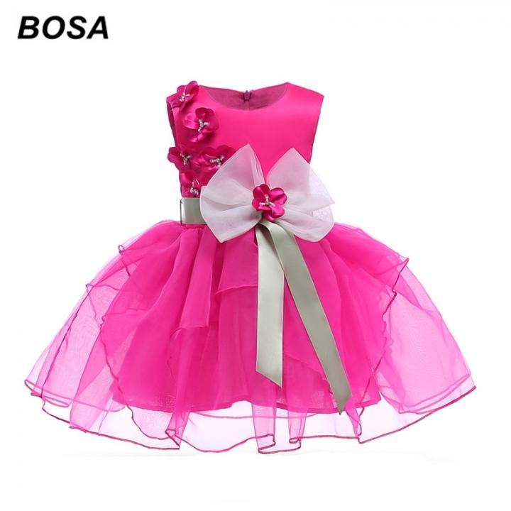 bc5fec430abd BOSA Girls Dresses Gauze Bowknot Princess Dresses Summer Party ...