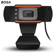 BOSA 3 LED HD Camera Webcam with MIC Clip-on Desktop Computer PC 12 Megapixel USB2.0