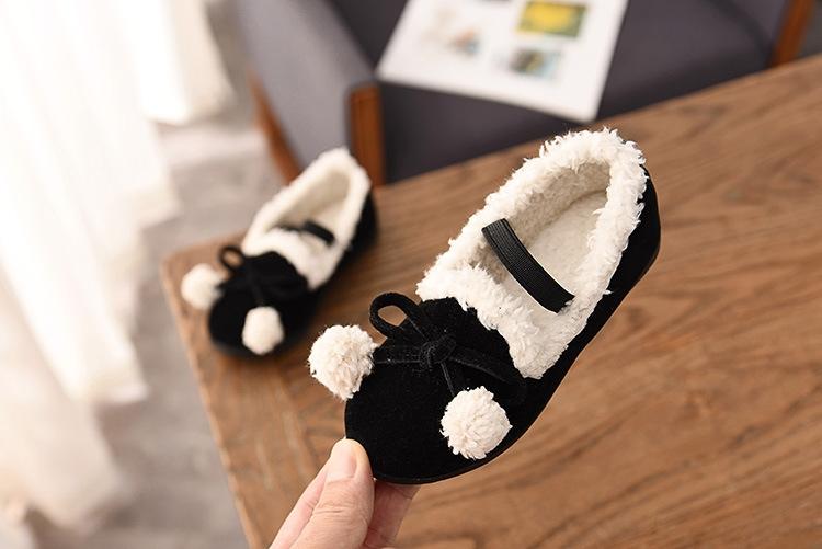 2941164f7faa BOSA 1 Pair New Winter Girls Shoes Princess Cotton Shoes Child Kids ...