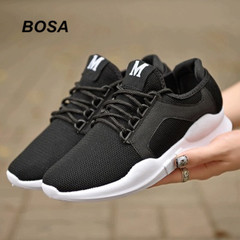 BOSA 2018 Mens Shoes Women Shoes Running Shoes Loafer Walking Sport Shoes Athletic Sport Sneakers black 43
