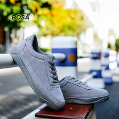BOSA 2018 Men's Shoes Casual Fashion Loafer Shoes Fashion Sneakers Male Shoes Size 39-44 grey 43