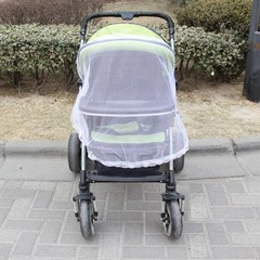 BOSA Strollers Mosquito Net Baby Carriers Car Seats Cradles Baby Mosquito Net with Bandage Stroller white one size
