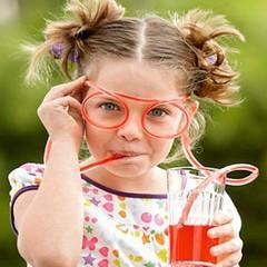BOSA Creative Funny Flexible Glasses Drinking Straws random color one size