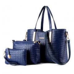 B2000 Handbag Stylish Ladies Fashion Big Shoulder Bag PU Leather Genuine bags red blue one size