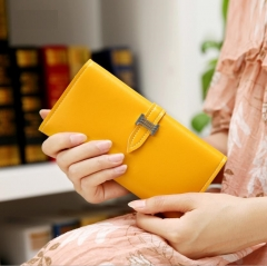 B2000 Fashion Lady Wallet Purse Handbag PU leather multicolor yellow one size