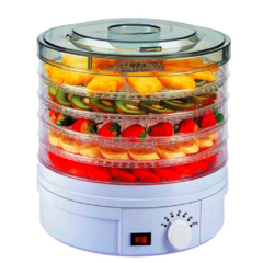 Food dehydrator fruit drying dish dryer vegetable electric 5 beef fruit meat white 350W