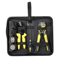 Combination set crimping tool crimping terminal ratchet crimping tool set stripping pliers ordinary 0.1-6(mm²)
