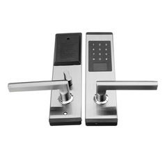 Hotel smart lock security door Bluetooth mobile phone APP key password card lock electronic lock silver 280*70mm