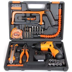 47 in1 Power Tool 180° Rechargeable Cordless Electric Screwdriver Drill Kit Suit As shown