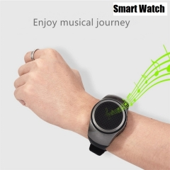 2018 Newest Smart Watch Bluetooth Speaker Portable Wireless Music Stereo for Infinix Tecno black 70*40*24 mm