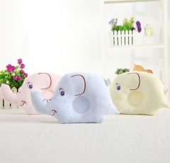 2018 Newest Soft Baby Pillow Lovely Elephant Cotton Infant Protective Pillow Yellow 18*24cm