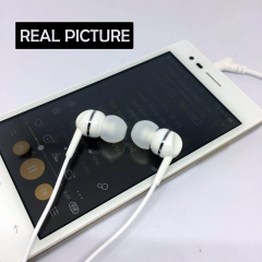 In-Ear Earphone Music Headphone Sports Headset Stereo with Mic for Android Apple Earpiece Fast Ship White