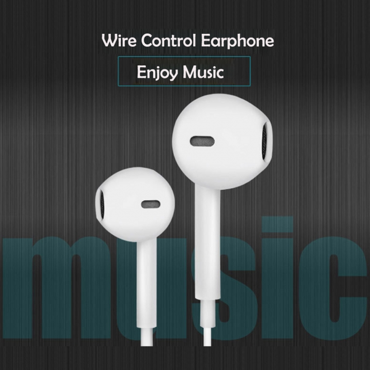 3.5mm Earphone Music Headphone Inear Headset Stereo with Mic for Android Apple Earpiece Fast Ship white