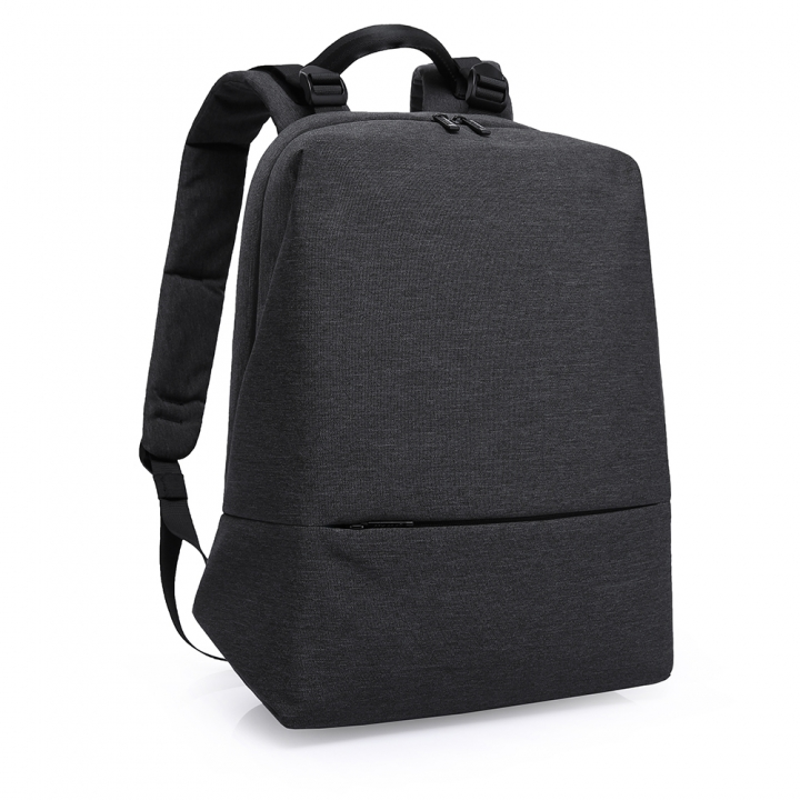 Fashion Men Daily Canvas 16-Inch Backpack Computer Laptop Bag Waterproof Large Capacity Black 16 inch