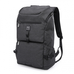 Fashion Canvas Backpack Computer Laptop Bag Travel Baggage Portable Large Capacity black 40L