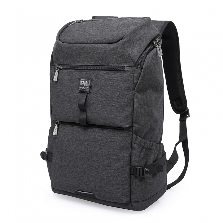Fashion Canvas Backpack Computer Laptop Bag Travel Baggage Portable Large Capacity black 40L