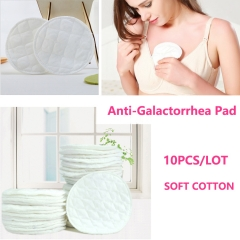 10PCS/LOT Lactating Mother Bra Feed Pads Soft Cotton Lactation Breast Nursing Anti-Galactorrhea Pad Soft Cotton White 10PCS