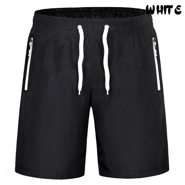 Men Breathable Summer Shorts Casual Shorts Sportswear Shorts Sweatpants  Elastic Waist Plus Size white waistband M