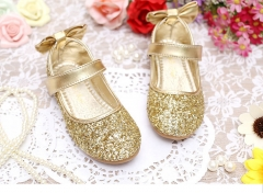 Girl Shoe Toddler Kid Flats Princess dress shoe Outdoor Cute Sandals Casual Slipper Leisure Sneakers gold 26