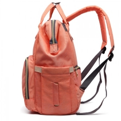 Large Capacity Maternity Nappy Bag Diaper Bag Waterproof Mummy Bag Travel Backpack for Baby Care orange 25cm*21cm*40cm