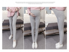Large Size Maternity Legging Pants Spring Autumn Warm Pregnant Leggings Clothes Cotton Pant Trousers gray M