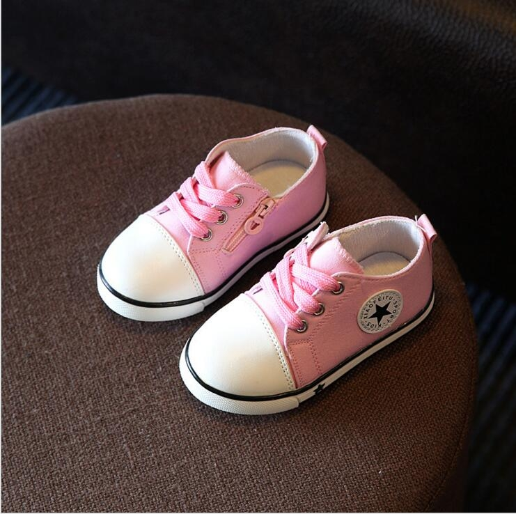 b079347a79a1 Baby girls boys spring autumn casual canvas shoes kids sneakers ...