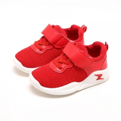 Kids Shoes Baby Boy Girl Casual Shoes Children Breathable Mesh Sneakers Sports Shoes Kids Trainers red 25