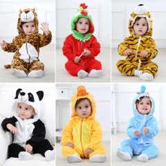 baby clothes spring and autumn flannel animal shape climbing children's clothing for newborns Chicken 70