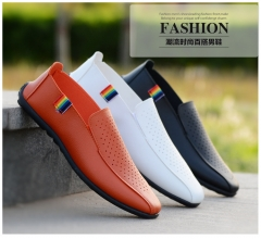 Men style Fashionable and breathable men's shoes Comfortable and light Casual shoes black 39