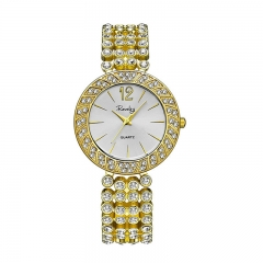 Brand Fashion Bracelet table watches women Extravagant diamonds yellow yellow