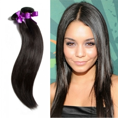 2 Piece Brazilian human hair weaves straight natural color can be dyed can be bleached virgin hair 1B 34 34 inch