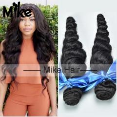2 bundles loose wave human hair extensions Brazilian virgin hair weaves,100grams/piece 1B 22 24 inch