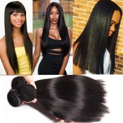 3 piece Peruvian straight unprocessed human hair weaving 100grams/piece free shipping 1B 12 12 12inch
