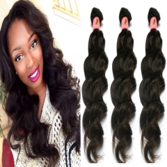 Peruvian natural wave 3 bundles virgin human hair weaving ,free shipping 1B 28 30 32inch
