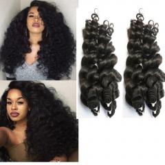 Brazilian unprocessed human hair 4 piece human hair weaving ocean wave,factory supplier 1B 22 22 22 22inch