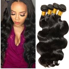 4 piece Brazilian unprocessed virgin human hair weaves body wave hair extension 1B 6 6 6 6inch