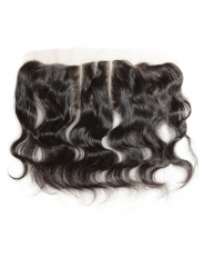 Brazilian hair lace frontal 13x4 ear to ear virgin human hair body wave closure free part 14inch