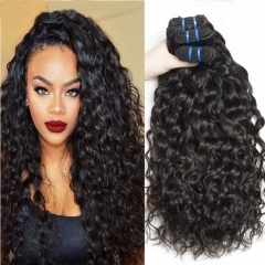 3 piece Brazilian hair water wave ,100% virgin human hair weaves can be dyed can be 1B 14 14 14inch