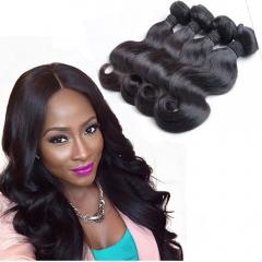 4 Bundles Peruvian body wave virgin human hair extension can be dyed 1B 28 28 28 28inch