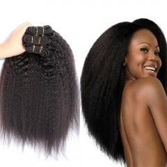 3 piece Indian raw human hair kinky straight soft virgin hair,100 grams each piece 1B 8 8 8inch