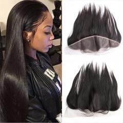 Brazilian hair lace frontal 13x4 size closure ,100% human hair ear to ear frontal 1b 8inch