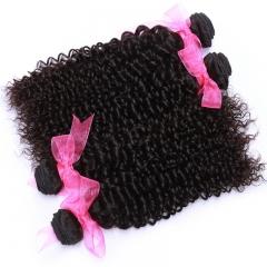 Brazilian virgin hair weaves 4 bundles deep curly human hair weft,double weft,no shedding no tangle 1b 16 16 16 16inch