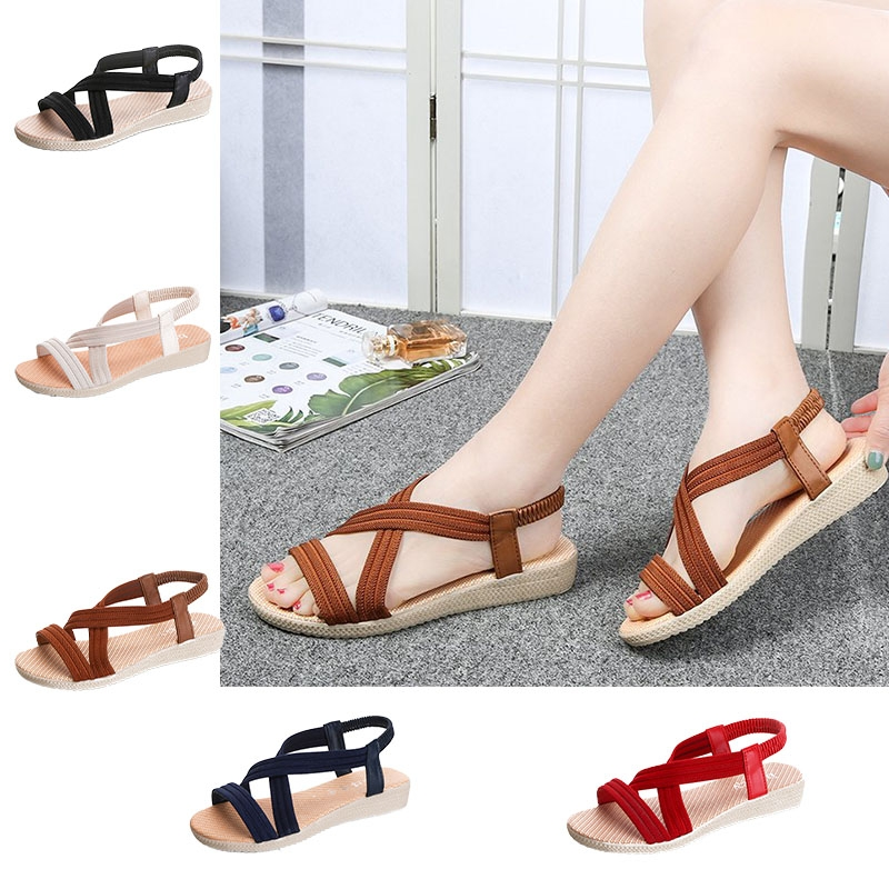 3fd2bfd5bcc8 Summer New Sandals Women s Shoes Rubber Korean Version and Pure ...