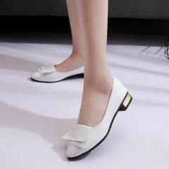 90435b670729 Korean Version of Bow Tie Casual Student Shoes Women Comfortable Casual  Shoes white 40