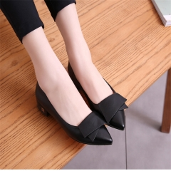 Korean Version of Bow Tie Casual Student Shoes Women Comfortable Casual Shoes black 35