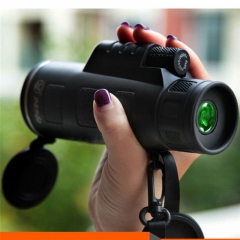 High Power 16X52 HD Monocular Telescope Shimmer lll Night Vision Outdoor Hiking Portable Telescope black 16X52 all optical + double focus + double circle +